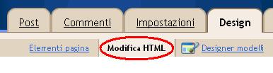 modificare html blogger